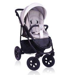 Прогулочная коляска Prampol Panda, цвет: белый/бежевый
