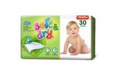 Детские пеленки Helen Harper Soft&Dry 40х60 см, 30 шт