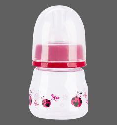 Бутылочка Бусинка полипропилен с 0 мес, 60 мл, цвет: красный