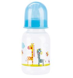 Бутылочка Бусинка пластик, 125 мл, цвет: голубой