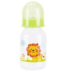 Бутылочка Бусинка пластик, 125 мл, цвет: салатовый