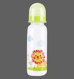 Бутылочка Бусинка пластик, 250 мл, цвет: салатовый