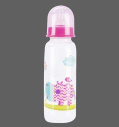 Бутылочка Бусинка пластик, 250 мл, цвет: розовый