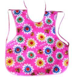 Слюнявчик Бусинка На лямках, цвет: розовый