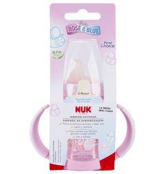 Бутылочка Nuk пластик с 6 месяцев, 150 мл, цвет: розовый