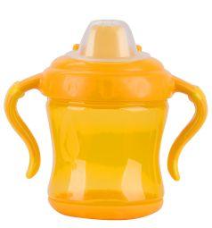 Поильник-непроливайка Бусинка С ручками, от 6 мес, цвет: желтый