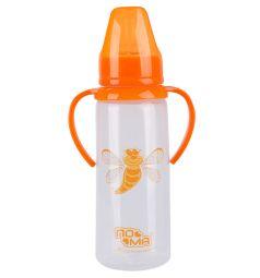 Бутылочка Пома полипропилен с 6 месяцев, 240 мл, цвет: оранжевый