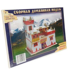 Сборная деревянная модель Wooden Toys Тибетский домик 3