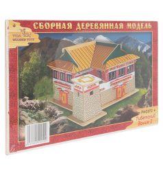 Сборная деревянная модель Wooden Toys Тибетский домик 2