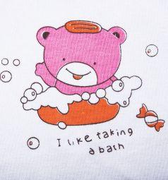Нагрудник Бусинка на липучке, цвет: розовый