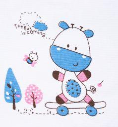 Нагрудник Бусинка на липучке, цвет: голубой