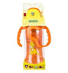 Бутылочка Бусинка Цветная пластик с 6 мес, 250 мл, цвет: оранжевый