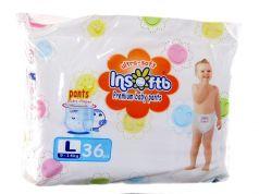 Подгузники-трусики Insoftb Premium Ultra-soft (9-14 кг) 36 шт.