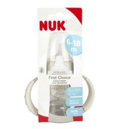 Бутылочка Nuk First Choice С ручками полипропилен с 6 мес, 150 мл, цвет: белый