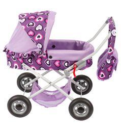 Коляска для кукол Wakart Ева фиолетовая