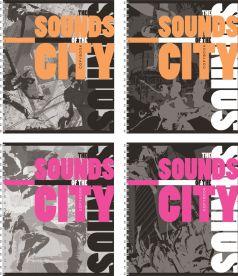 Тетрадь А5 96 листов клетка Полиграфика Городской ритм
