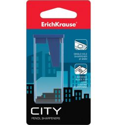 Точилка Erich Krause пласт. City с контейнером