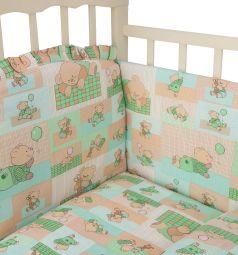 Комплект постельного белья Сонный гномик Топтыжки, цвет: салатовый