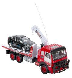 Машина на радиоуправлении Zhorya красный автотранзит с черной машиной