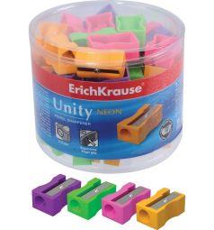 Точилка Erich Krause 1 отв. пласт. Unity Neon