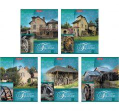 Общая тетрадь А5 48 листов линейка Полиграфика Старая мельница