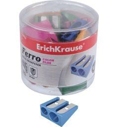 Точилка Erich Krause 2 отверстия алюмин. Ferro color plus