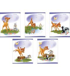Школьная тетрадь А5 12 листов клетка Disney Бемби