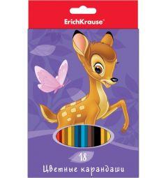 Карандаши цветные Disney Бемби 18 шт.
