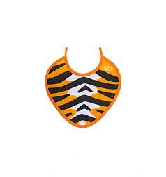 Слюнявчик Пома на завязках, цвет: оранжевый