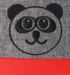 Прогулочная коляска Prampol Panda, цвет: красный/серый