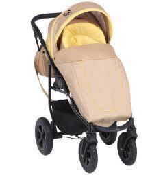 Прогулочная коляска Prampol Panda, цвет: бежевый/желтый