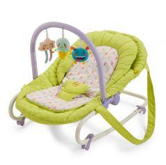 Шезлонг Happy Baby Nesty, цвет: green