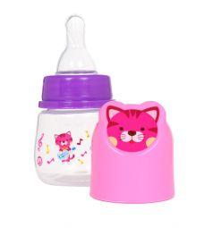 Бутылочка Ням-Ням для кормления полипропилен с рождения, 60 мл, цвет: розовый