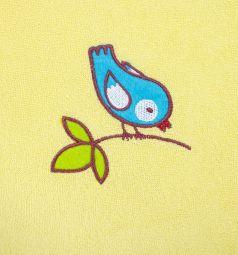 Слюнявчик-фартук Мир Детства большого размера, цвет: желтый/окантовка бирюзовая