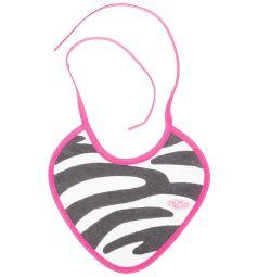 Слюнявчик Пома на завязках, цвет: розовый