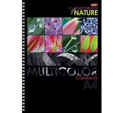 Тетрадь А4 96 листов клетка Hatber Nature