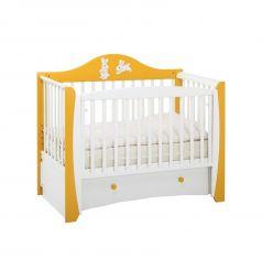 Кровать Papaloni Olivia, цвет: шафран/белый