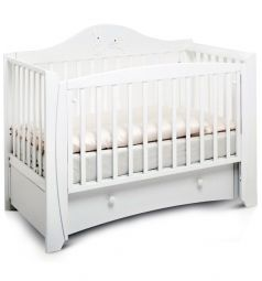 Кровать Papaloni Olivia, цвет: белый