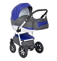 Коляска 2 в 1 Expander Mondo Eco, цвет: серый/синий