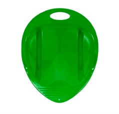 Санки-ледянки Пластик Снежный гонщик, цвет: зеленый