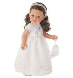 Кукла Juan Antonio Белла Первое причастие брюнетка в кремовом 45 см