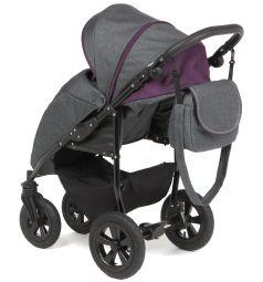 Прогулочная коляска Prampol Panda, цвет: темно-серый/фиолетовый