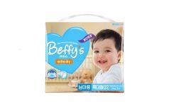 Подгузники Beffys Extra dry для мальчиков (13+ кг) 32 шт.