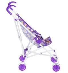 Коляска-трость для кукол MelogoMelobo фиолетовая с мишками 55 см