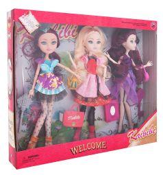 Набор кукол Kaibibi 3 куклы в роскошных платьях 28 см