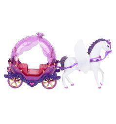 Игровой набор Zhorya Кукла с каретой и лошадью