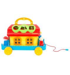 Развивающая игрушка Полесье Сказочный домик на колесиках