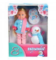 Кукла Evi и снеговик 12 см