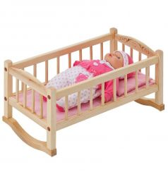 Набор мебели для кукол Paremo Кроватка-люлька розовый текстиль