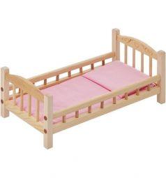 Набор мебели для кукол Paremo Кроватка розовый текстиль